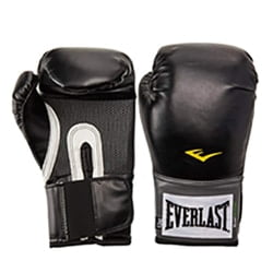 Heavy Hitters Deluxe Boxing Training Leather Gloves Black Sparring bagwork